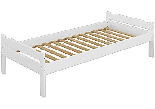 Erst-Holz 60.31-09 W Einzelbett mit Rollrost - 90x200 - Massivholz Weiß