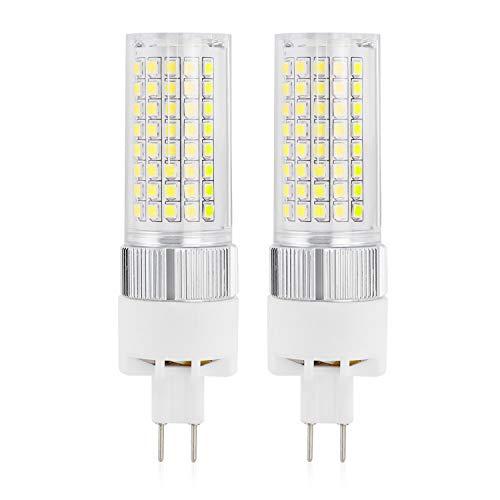 MENGS - 2 lampadine LED G8.5, 1600 lm, 18 W, ricambio per lampadine alogene da 140 W, 6000 K, luce bianca fredda, angolo di irradiazione di 360°, CRI80, AC 85-265 V