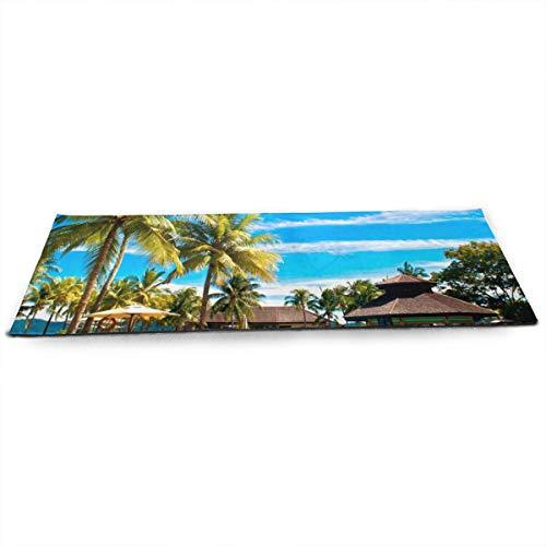 NA Tropische Zwembaden Pacific Palms Hotel Yoga Mat met gratis Yoga Mesh Bag Milieuvriendelijke anti-slip Oefening Matten voor Pilates.