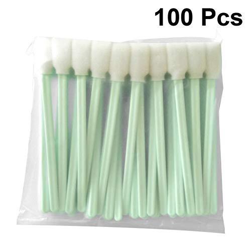 100st Wattenstaafjes Solvent Foam Getipt Spons Sticks Zwabber for Epson Roland Mimaki Mutoh Printer (Color : Green)