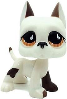 WOOMAX Littlest Pet Shop LPS zabawka biały i brązowy wielki Dane pies szczeniak brązowe oko najlepszy prezent urodzinowy