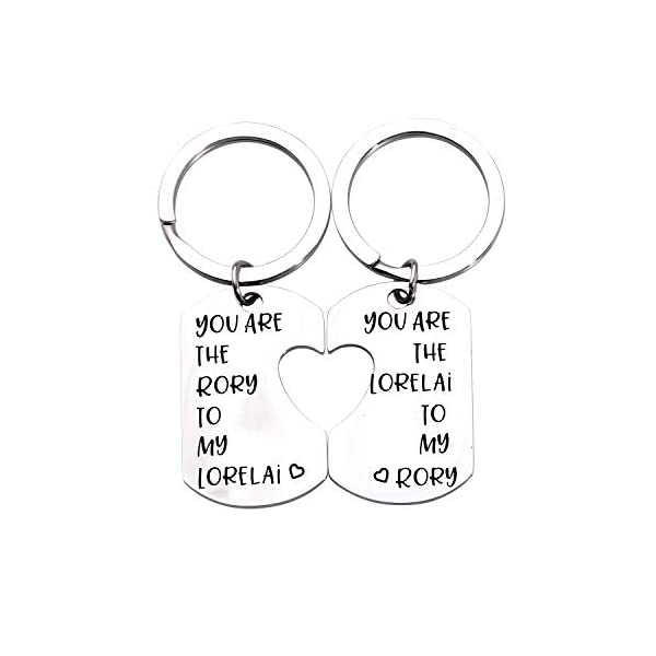 Gilmore Girls Gift Mother Daughter Gift Best Friend Gift Sister Gift You Are the Lorelai To My Rory Gilmore Girls Inspired Jewery Mother Daughter Keychain Set