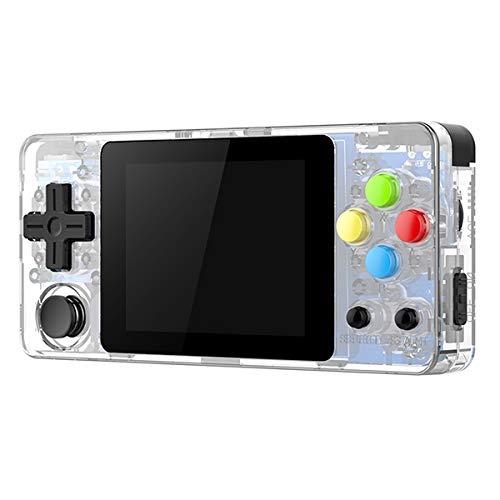 Handheld-Konsole, 2,6-Zoll-Schirm-Minihandspiel-Konsole Nostalgic Kinder Retro-Spiel Mini Family TV-Video Konsolen,Weiß,32GB