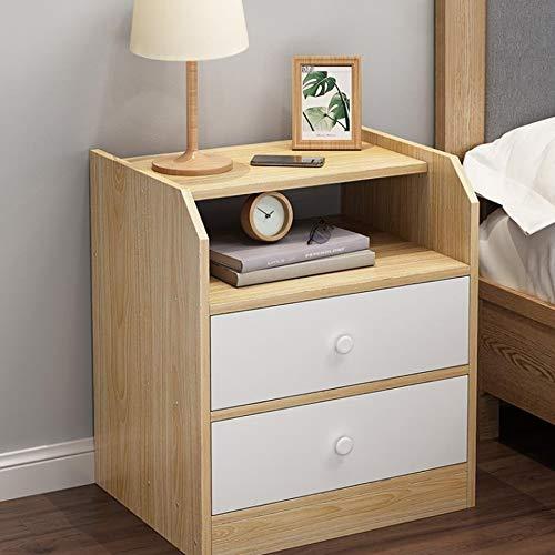 GZQDX Mesita de Noche mesita de Noche de Madera del diseño del cajón Doble de la cabecera, Muebles del Dormitorio de la cabecera (Color : B)