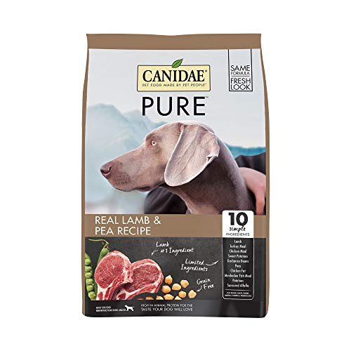 Canidae PURE Grain Free, Limited Ingredient Dry Dog Food, Lamb and Pea, 24lbs