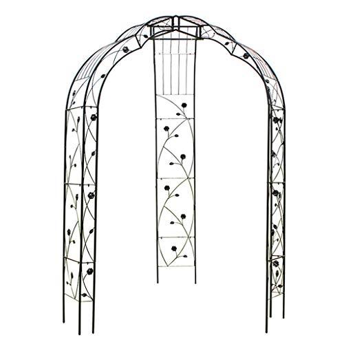 Gazebo in Metallo ad Arco Rosa per Giardino Esterno Patio Cortile, Matrimonio, rampicanti, Rose, Fiori