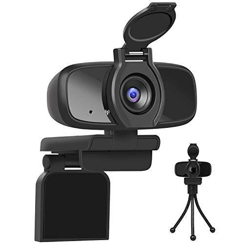 LarmTek Webcam für Pc,USB Kamera mit Webcam Abdeckung,Computer,Laptop Kamera für Konferenzen,Pro Stream,Webcam mit Plug and Play,W2pro,De
