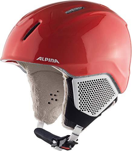 ALPINA Carat LX Casque de Ski. Fille, Flamant Rose Mat, 51-55 cm