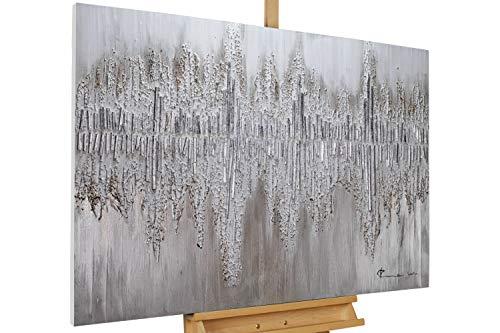 KunstLoft® Acryl Gemälde 'Argentic Loom' 120x80cm handgemalt Leinwand Bild