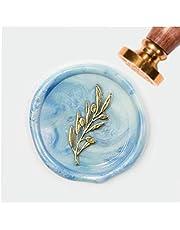 Olive Leaf Wax Seal Stamp, Vintage Retro Brass Head houten handvat Afneembare Sealing Stamp