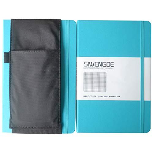 siwengde cuadriculado/grid-ruled/cuadros/cuadriculado, diario cuaderno (tamaño grande (A5) 5.7'x8.27160páginas intercambiables, 100g/m² Papel Liso