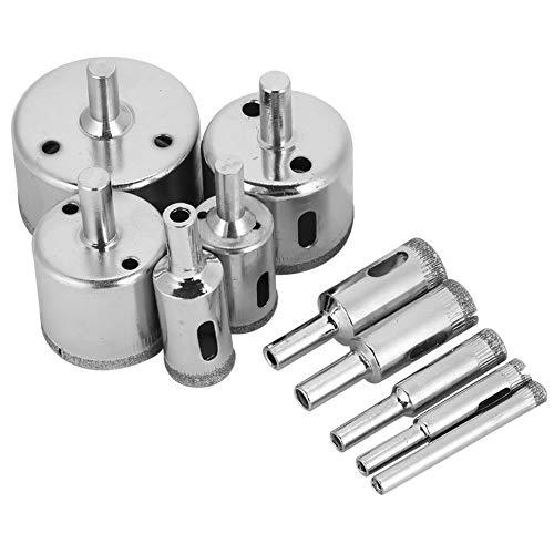 iFCOW Gat Boor Boor, 10 Stks Diamant Coated Core Boor Bit 6~50 mm Gat Zaag voor Tegel Keramisch Glas Porselein Marmer