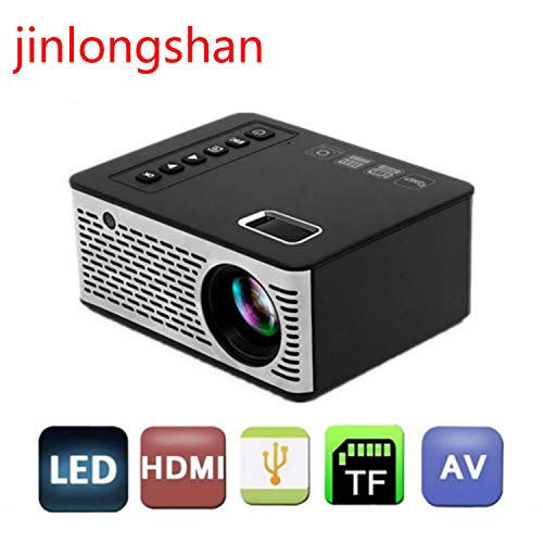 T200 Mini LED Projector 1080p HD Multimedia Playback, Compatible with Short Focus Portable Home Theater Projector