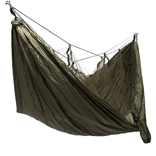Yhjkvl Camping Hamaca Hamaca Ultraligera para Acampar, Hamaca con Columpio En La Playa para El Aire Libre, Mochilero, Supervivencia O Viajes Hamaca para Exterior (Size:260 * 140cm; Color:Green)