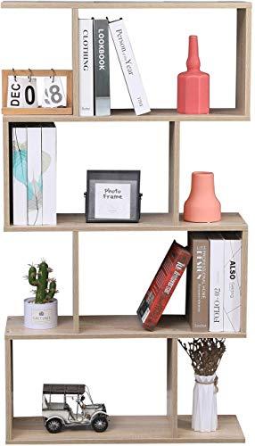Etnicart - Bücherregal, Farbe Eiche, Büro, modern, doppelseitig, 70 x 23,5 x 127,5 cm, selbsttragend, Würfel, Design Eingang Wohnzimmer