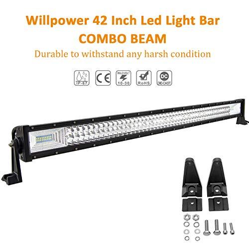 Willenskraft 107cm 540W LED-Stange 4X4 7D Combo Flood Spot Beam LED-Stange 12V 24V 6000K LED-Lichtleiste für PKW-LKW-Traktor-Geländefahrzeuge ATV UTV