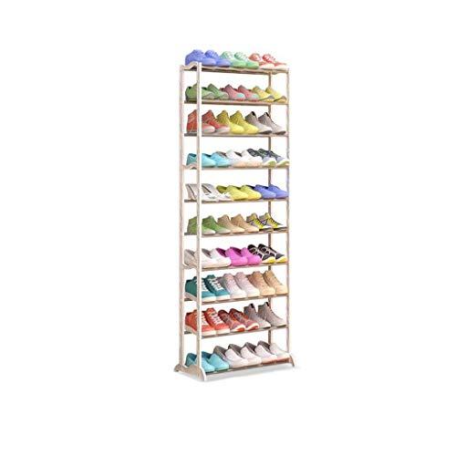 NSYNSY Estante para Zapatos de Muebles, 10 Niveles Almacenamiento de Zapatos extraíble Estante para Zapatos Organizador Estante Soporte para 30 Pares, Ahorro de Espacio, Fácil Montaje