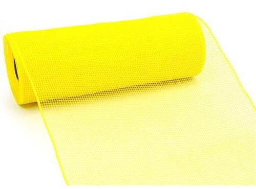 10 inch x 30 feet Deco Poly Mesh Ribbon (Yellow) : RE130229