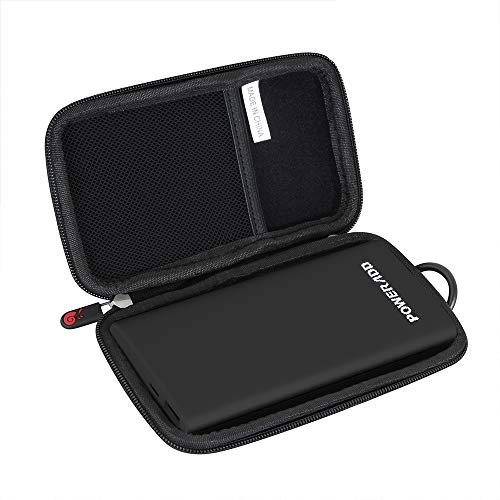 Hermitshell Hard Travel Case fits POWERADD Pilot 4GS 12000mAh 8-Pin Input Portable Charger (Black)