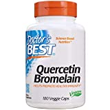 Doctor's Best Quercetin Bromelain, Immunity Support, Heart, Joint & Healthy Respiratory System, Non-GMO, Vegan, Gluten Free, Soy Free,180 VC