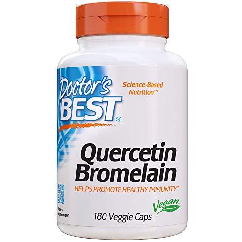 Doctor's Best | Quercétine Bromelaïne | 180 gélules végétariennes | sans gluten | sans soja