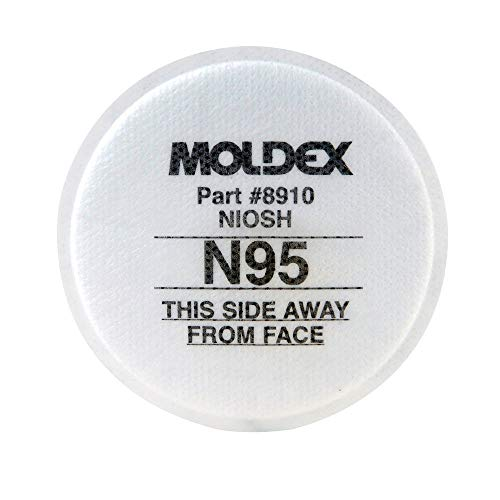 Moldex 8910 N95 Particulate Pre Filters Box 10 Each by Moldex
