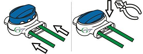 Genisys AL-KO Robolinho ® kompatible Kabel-Verbinder Draht Reparatur Verbindungsklemmen Mähroboter - wasserdicht |Original 3M Scotchlok, Inhalt:10x314