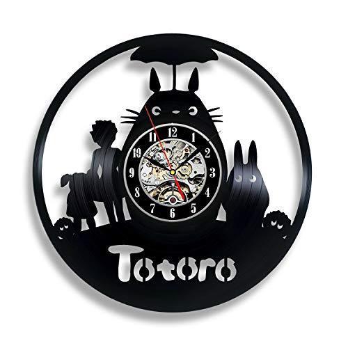wtnhz LED-Studio Plush Toy Art Deco Wall Vinyl Clock Modern Home Movie Retro Fashion Creative Retro DIY Wall Clock