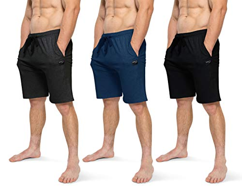 Brooklyn-Jax Men's Lounge Shorts, Bottoms with Pocket- Pack of 2 or 3