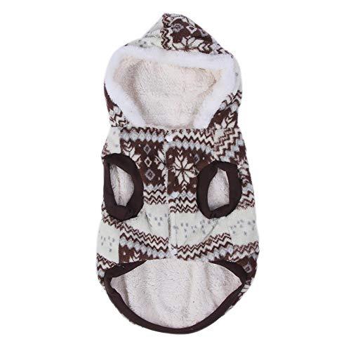 A sixx Disfraz de Perro Mascota no txico, Material de Felpa sin daos, Ropa de Invierno para Gatos, Seguro para Mascotas(Size 14)