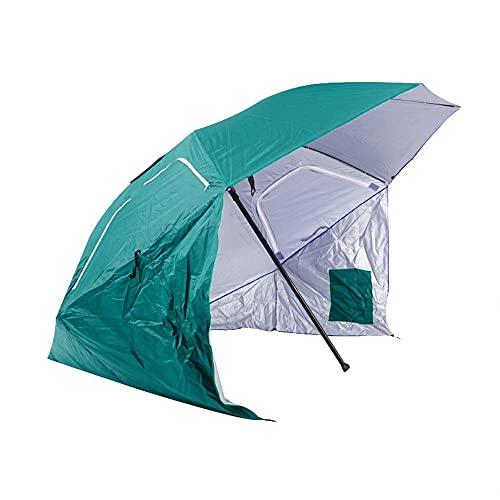 KELITINAus Sun Umbrelaportable Sol Y Tiempo Shelter, Paraguas Al Aire Libre, Paraguas de Jardín, Adecuado para Terraza, Piscina, Jardín, Playa,Verde