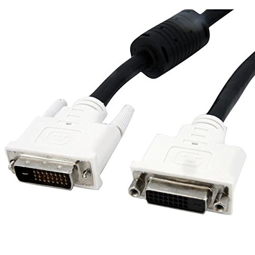StarTech.com DVI Extension Cable - 6 ft - Male to Female Cable - 2560x1600 - DVI-D Cable - Computer Monitor Cable - DVI Cord - Video Cable (DVIDDMF6), Black