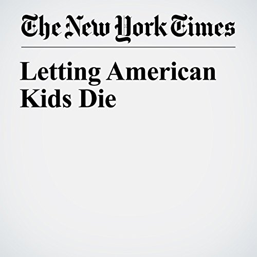 Letting American Kids Die copertina