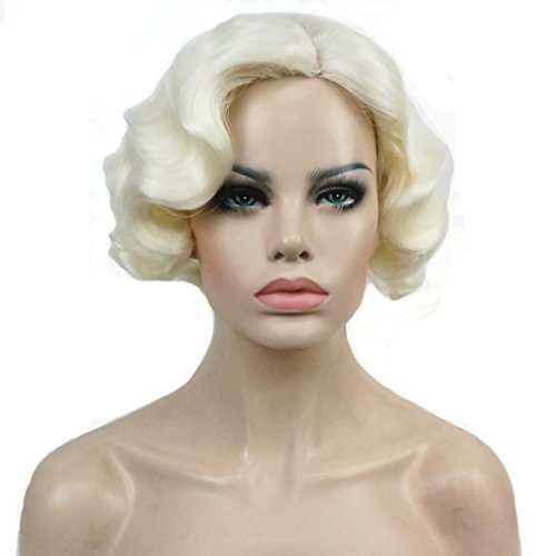 Lydell Vintage Cosplay Party Wig Short Finger Wavy...