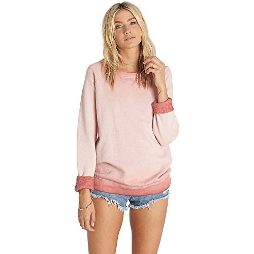 BILLABONG Junior Its Alright Relaxed Fit Pullover Crew Sweatshirt - Pink - Mittel