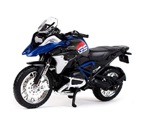 DSWS Motocicleta Miniatura 1:18 para B-M-W R1200GS Motocicleta Modelo Separado Modelo Juguete Colección Colección Regalo De Cumpleaños para Niños