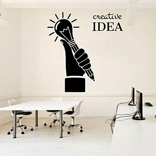 Office Muursticker Creatief Idee Lamp Zakelijke Werknemer Inspireer Kantoordecoratie Motivatiestickers Muurschildering A8 54x57cm
