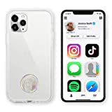 EMOET Instant Digital Business Card and Fashion Phone Decoration - NFC Tag That Instantly Shares Social Media, Contact Info, Music, Payment Platforms and More - Compatible with iOS and Android