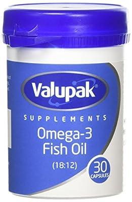 Valupack 1000mg Omega-3 Fish Oil Capsules - Pack of 30