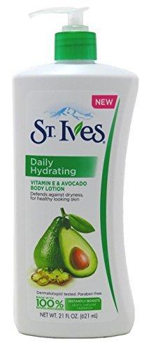 St. Ives Hydrating Body Lotion, Vitamin E and Avocado, 21 oz