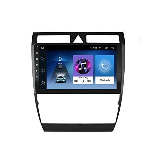 Android Radio De Coche Bluetooth con Cámara De Visión Trasera, Autoradio, para Audi A6 1997-2004, Apoyo Llamadas Manos Libres/FM Radio/1080P Video/WiFi/AUX Entrada,Quad Core,4G WiFi 2+32