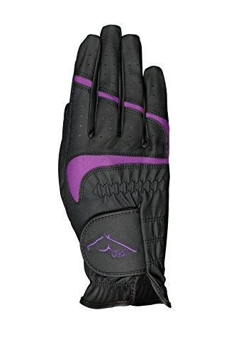 United Sportproducts Germany USG RSL Reiten Handschuhe mit Rome - schwarz/lila, Small
