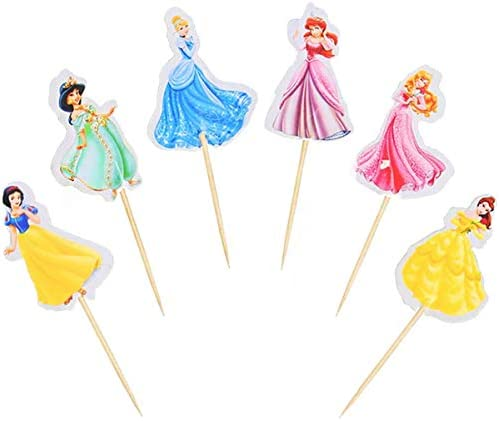 Princess Cupcake Toppers Girls Party Supplies Cake Topper Birthday Fruits Cup Party Supplies product image