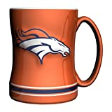 NFL Denver Broncos Sculpted Relief Mug Alternate Color, 14-Ounce, Orange