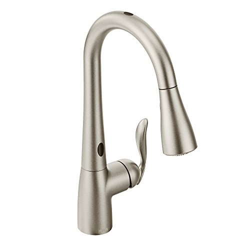 Moen 7594ESRS Arbor Motionsense Two-Sensor Touchless One-Handle Pulldown Kitchen Faucet Featuring Power Clean