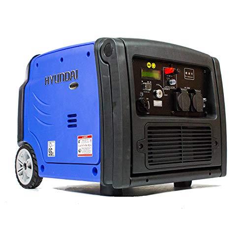 HYUNDAI Inverter-Generator HY3200SEi D (tragbarer Benzin Generator, Inverter Stromerzeuger mit 3.2 kW Maximalleistung, Notstromaggregat, Stromaggregat)