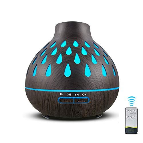 500ml Aroma Diffuser,Ultraschallbefeuchter, Humidifier für ätherische öle Raumbefeuchter für Schlafzimmer Raum Büro,Aromatherapie-Diffusor mit 7 farbwechselnden LED-Leuchten und wasserlosem Auto-Off