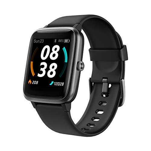 Smartwatch, KUNGIX Fitness Armband GPS Tracker Uhr 5 ATM Wasserdicht Touch Screen Smart Watch mit Pulsuhren Schlafmonitor Schrittzähler Wettervorhersage Sportuhr für Android iOS Damen Herren
