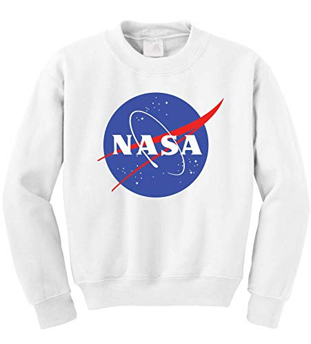 NuffSaid NASA Worm Logo Crewneck Sweatshirt Sweater Pullover - Unisex Crew...