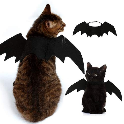 Preisvergleich Produktbild WZhen Kostüm Halloween Pet Bat Wings Katze Fledermaus Kostüm - Schwarz